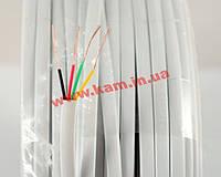 Телефонный кабель 4-пров., плоский медный белый (KD-TEL4C-WH)