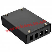 ВО бокс малий на 4SC Simplex адаптера, 120х80х28 мм, чорний (UA-FOBS4SCS-B)