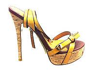 Босоножки женские Basconi из натуральной кожи на каблуке,женские босоножки