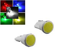 Светодиодная лампа цоколь Т10 (W5W) COB, 12В