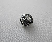 Бусина ШАРМ серебро 925* с цирконом, фото 1