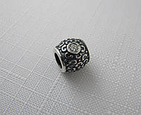 Бусина ШАРМ серебро 925* с цирконом