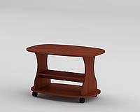 Журнальный столик Каприз овальный на колесиках