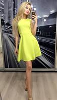 Женское платье с бантиком, желтое
