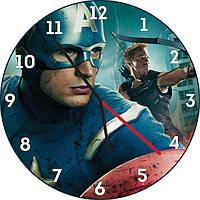 Настенные часы Капитан Америка