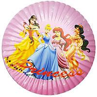 Тарелки бумажные Принцессы-2 10шт.
