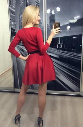 Коктейльное платье солнце, красное, фото 2