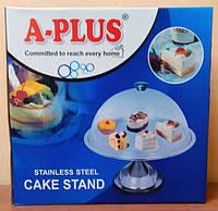 Подставка для пирожных и фруктов с крышкой A-Plus 0470
