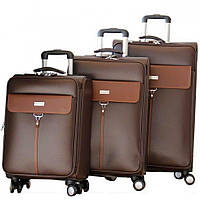 Деловой чемодан на колесах тройка