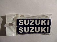 """Наклейка   логотип   """"SUZUKI""""   (7x1см, 20шт, черная)   (#1862)"""