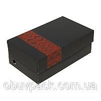Коробка обувная черная с нанесением логотипа