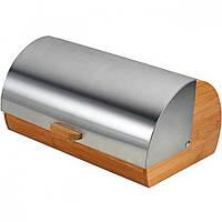 Хлебница деревянная со стальной крышкой Maestro