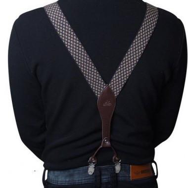 Эксклюзивные кожаные подтяжки Topgal