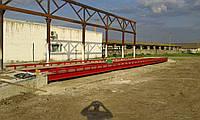 Автомобильные весы 80 тонн., длинна 18 метров. С Боковыми колесоотбойниками.