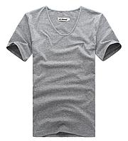 Мужская футболка  в стиле All Saints, светло-серая, фото 1