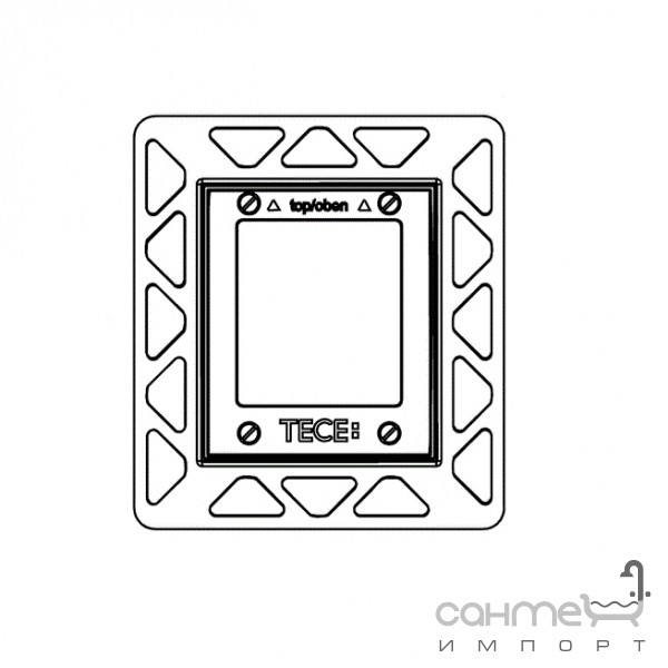 Инсталляционные системы TECE Монтажная рамка для установки стеклянных панелей TECEloop Urinal на уровне стены TECE 9.242.646 белая