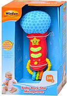 Развивающая игрушка для малыша Микрофон погремушка WinFun (0722 NL)