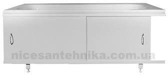 Напольный экран под ванну 1.7*0.5 м. стальной ЕВС