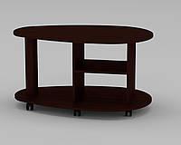 Журнальный столик Капля фигурный на колесиках