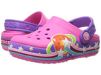 Оригинальные светящиеся кроксы Crocs Girls' CrocsLights Galactic Clog
