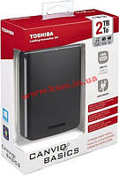 "Внешний жесткий диск Toshiba Canvio Basics 2TB HDTB320EK3CA 2.5"" USB 3.0 External Bla (HDTB320EK3CA)"