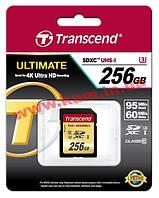 Карта памяти Transcend Ultimate SDXC 256GB Class 10 UHS-I U3 R95/ W65MB/ s (TS256GSDU3)
