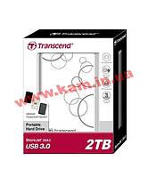 Внешний жесткий диск Transcend StoreJet 2.5 USB 3.0 2TB серия A белый (TS2TSJ25A3W)