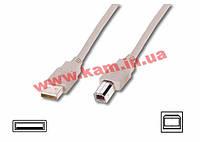 Кабель EDNET USB 2.0 (AM/ BM) 1.8m, biege (84126)