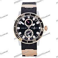 Часы мужские наручные Ulysse Nardin Maxi Marine Diver AAA Gold-Black-Silver