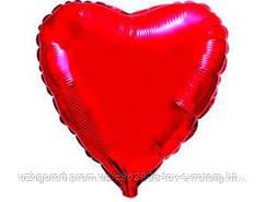 Фольгированный шар Сердце красное, 44 см