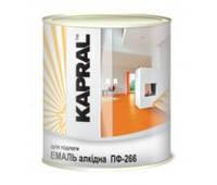 Износостойкая эмаль для новых и ранее окрашенных деревянных изделий KAPRAL ПФ-266  желто-коричневая 0,9л.