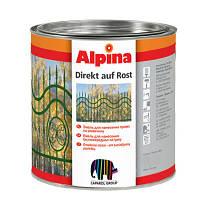 Эмаль алкидная с антикоррозионной защитой Direkt auf Rost RAL1021 0.75л Рапсово-желтая Alpina