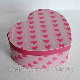 Подарочная коробка сердце (сердечки)
