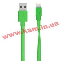 Кабель BELKIN USB 2.0 MIXIT Flat Lightning charge/ sync cable 1.2м, Green (F8J148bt04-GRN)
