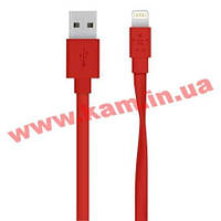 Кабель BELKIN USB 2.0 MIXIT Flat Lightning charge/ sync cable 1.2м, Red (F8J148bt04-RED)