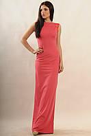 Элегантное вечернее платье Венеция, строгие прямые линии, спинка наполовину открытая, 42-52 размеры
