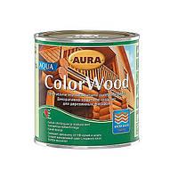 Декоративное защитное средство для древесины Aura ColorWood Aqua Бесцветный 0,75л.