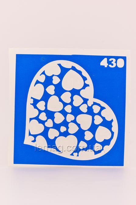Boni Kasel Трафарет для био тату 6x6 см - 430, 1 шт
