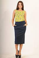 Удлиненная майка свободного силуэта выполнена из мягкого хлопкового материала 42-52 размеры