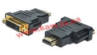 Адаптер Digitus HDMI to DVI-I(24+5), black (AK-330505-000-S)