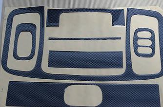 """Декоративні накладки салону """"карбон"""" на Renault Trafic + Opel Vivaro 2001-> — Туреччина"""