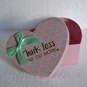Подарочная коробка сердце на 14 февраля (мини)
