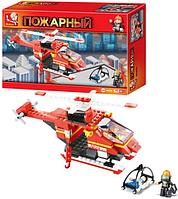 """Конструктор """"Пожарный вертолет"""" M38-B0218 Sluban (155 деталей)"""