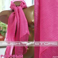Розовый шифоновый шарф