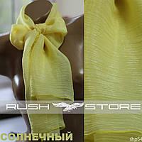 Желтый шифоновый шарф