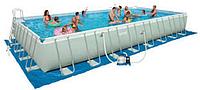 Каркасный бассейн Intex 28318 Rectangular Ultra Frame Pool (488-244-107 см)