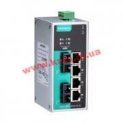 Индустриальный коммутатор с 1 портом 10/ 100BaseT(X), 2 портами 100BaseFX sin (EDS-P206A-4PoE-SS-SC)