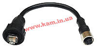 Кабель Ethernet M12 в RJ45 Cat-5E UTP с 4-pin разъемом M12D female, IP (CBL-M12DFF4PRJ45-BK-10-IP67)