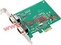 Адаптер на шине PCI Express, 2xRS-232/ 921.6кбод, Male DB9, защита от импульсных помех 15к (CP-102E)