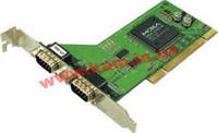 Адаптер на шине Universal PCI, 2xRS-232/ 921,6кбод, защита от импульсных помех 15кВ ESD (CP-102U)